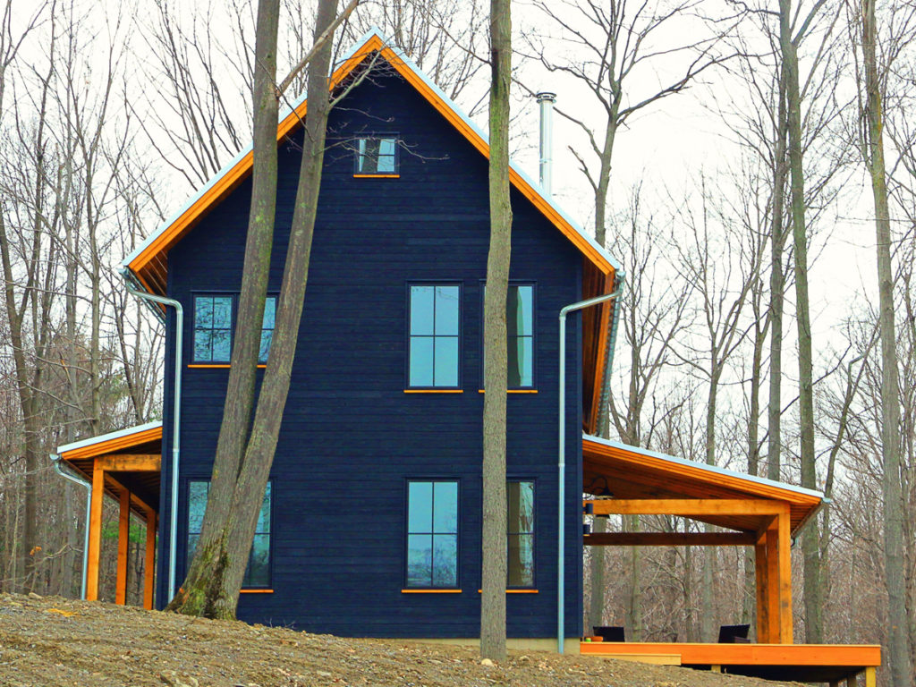 Farmhouse project Yakisugi exterior cladding