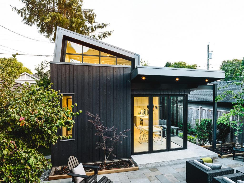 Laneway House project Yakisugi exterior cladding