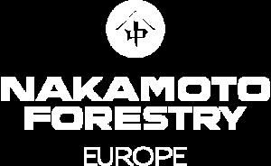 Nakamoto Forestry Europe Logo in white
