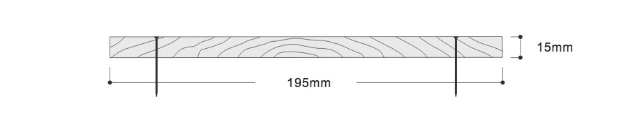 Specification drawing Square Edge