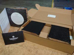 Our sample box inside